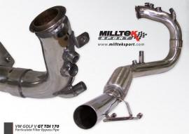 Milltek Vw Golf Mk5 2 0TDI 170BHP DPF Delete Removal